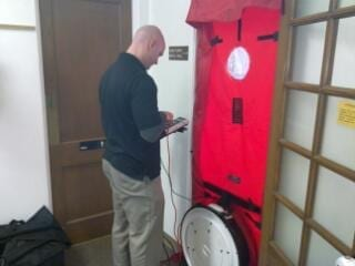 Energy Audit Blower Door Image